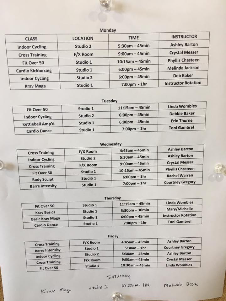 Schedule: July 2017